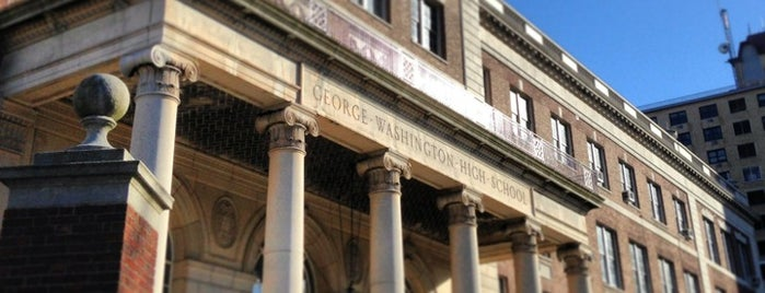 George Washington High School is one of NYC Hurricane Evacuation Centers.