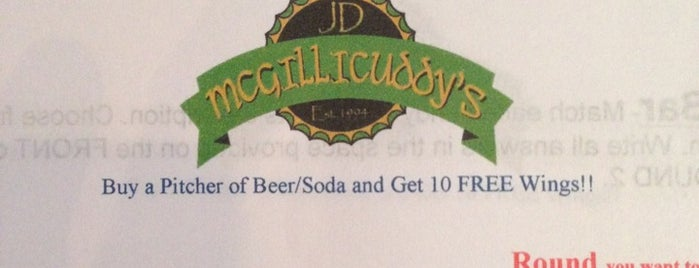 JD McGillicuddy's is one of The norm.