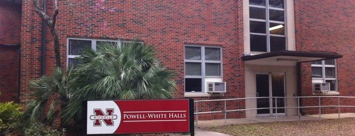 Powell-White Halls, NSU is one of Nicholls State University.