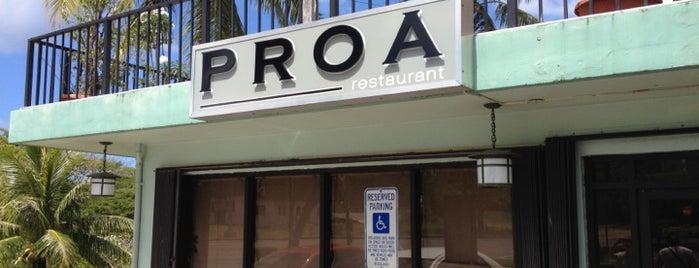 Proa Restaurant is one of GU-HI-OR-WA 2012.