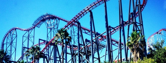 Six Flags Magic Mountain is one of I'm in L.A. you trick!.