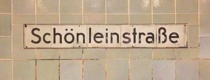 U Schönleinstraße is one of Besuchte Berliner Bahnhöfe.