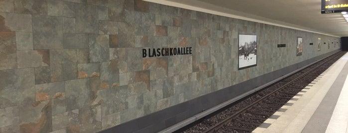 U Blaschkoallee is one of U-Bahn Berlin.