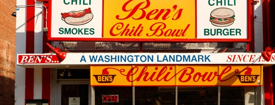 Ben's Chili Bowl is one of T+L's Definitive Guide to Washington D.C..