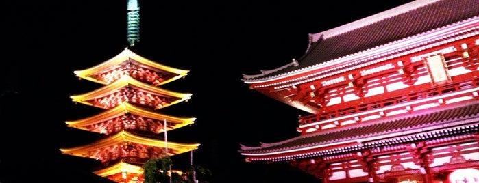 浅草寺 (Sensō-ji Temple) is one of 2009.03 Kanagawa Tiba Tokyo.