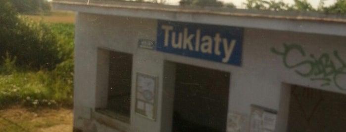 Železniční zastávka Tuklaty is one of Železniční stanice ČR: Š-U (12/14).