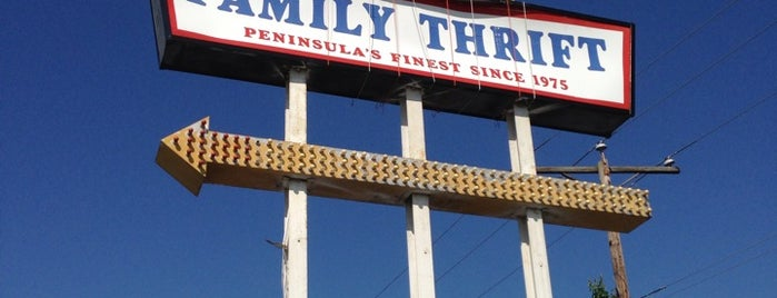 Family Thrift is one of Peninsula Thrift Stores.