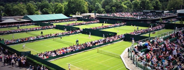 The All England Lawn Tennis Club is one of London.