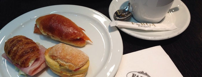 Farga is one of Breakfast and nice cafes in Barcelona.
