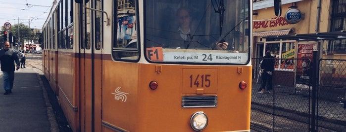 Orczy tér (24, 28, 62) is one of Pesti villamosmegállók.