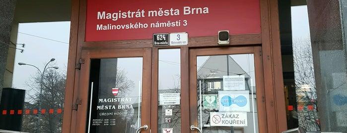 Magistrát města Brna is one of Páternostery.