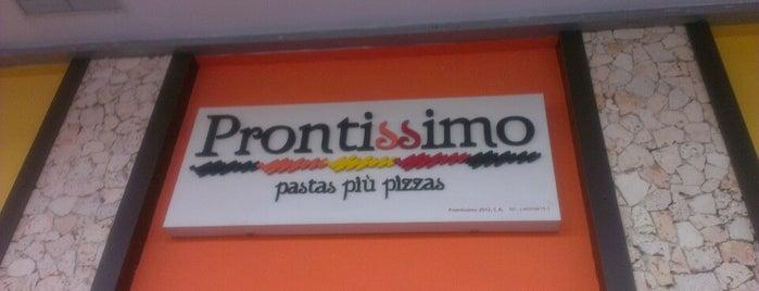 Prontissimo is one of Restaurantes Venezuela.
