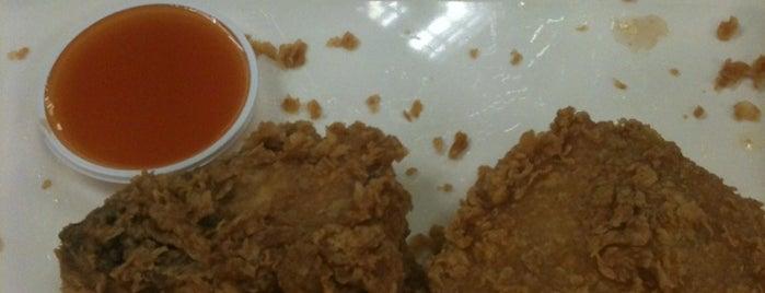 KFC (เคเอฟซี) is one of McDonald drive thru.