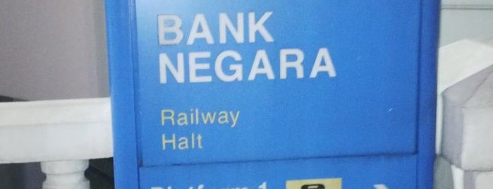 KTM Line - Bank Negara Station (KA03) is one of Kaula Lumpur-Singapore-Indonesia-2011.