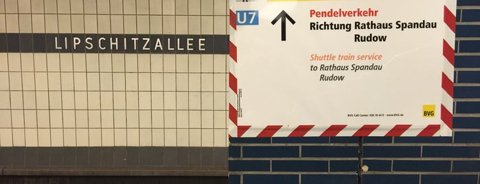 U Lipschitzallee is one of U-Bahn Berlin.