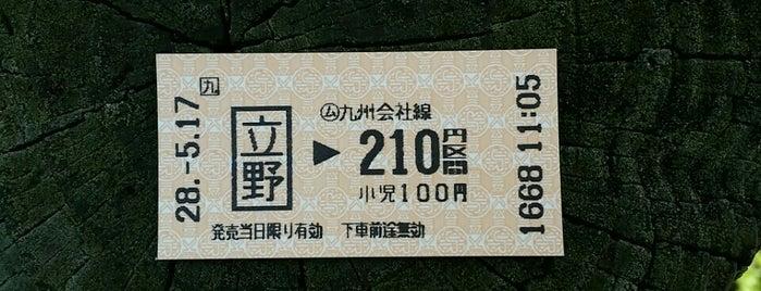立野駅(Tateno Sta.) is one of 豊肥本線.
