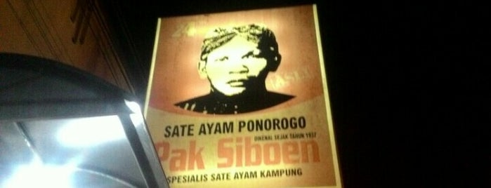 Sate Ayam Ponorogo Pak Siboen is one of The 20 best value restaurants in Kediri, Indonesia.