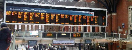 London Liverpool Street Railway Station (LST) is one of #LoveE1.
