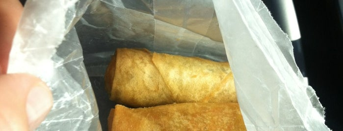 LP Eggrolls is one of cheap eats.