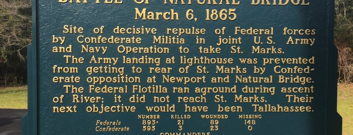 Natural Bridge Battlefield State Park is one of Fun Activities in Tallahassee.