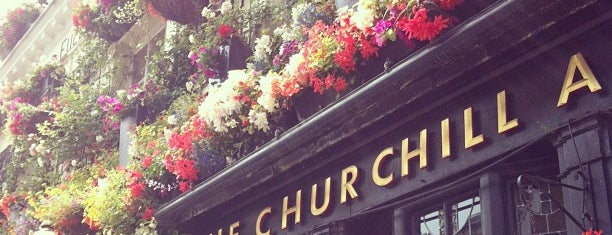 The Churchill Arms is one of Drinking London.