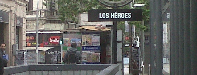 Metro Los Héroes is one of Metro de Santiago L2.
