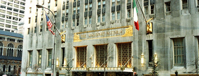 Waldorf Astoria New York is one of NYC's Presidential Haunts.
