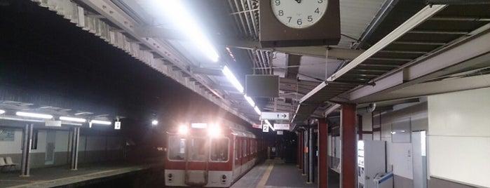 九条駅 (Kujo Sta.) is one of 近鉄橿原線.