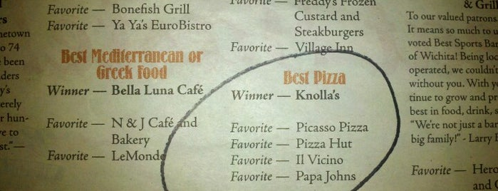 Knolla's Pizza Café is one of Wichita Must-Do's!!.