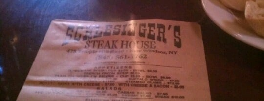 Schlesinger's Steak House is one of Places I want to eat at.