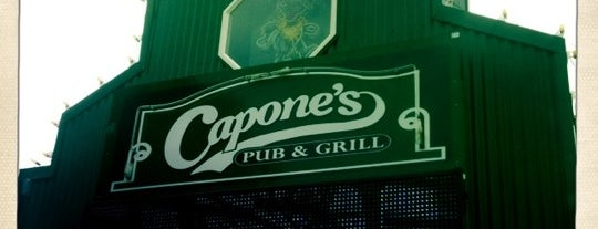 "Capone's Pub & Grill is one of ""Diners, Drive-Ins & Dives"" (Part 1, AL - KS)."