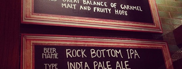 Rock Bottom Brewery is one of asdf.