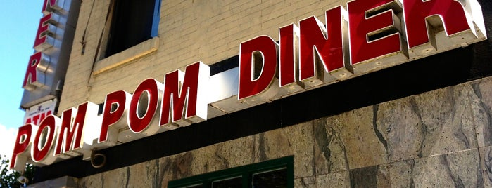 Pom Pom Diner is one of NYC 24h restaurants.
