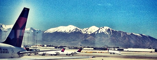 Salt Lake City International Airport (SLC) is one of B.