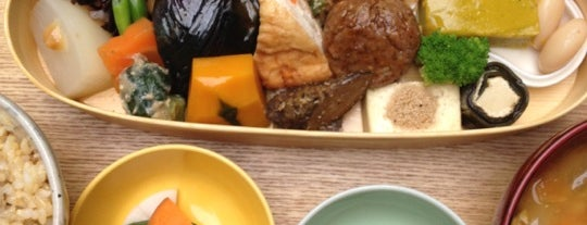 BROWN RICE CAFE & DELI is one of 菜食できる食事処 Vegetarian Restaurant.