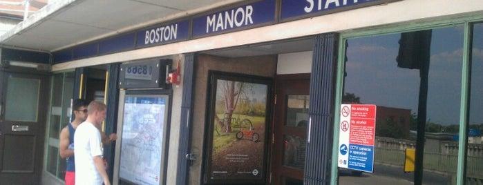 Boston Manor London Underground Station is one of Tube Challenge.