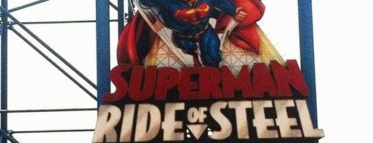 Superman Ride of Steel is one of ROLLER COASTERS.