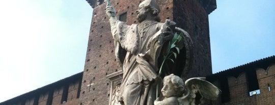 Castello Sforzesco is one of Milan City Badge - Milano da bere.