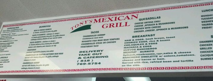 Tony's Mexican Grill is one of San Fernando Valley.