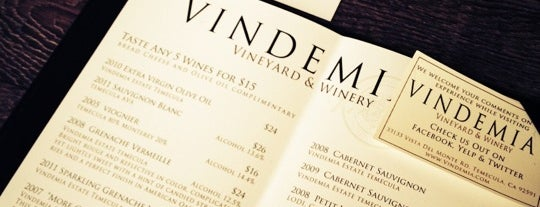 Vindemia Vineyard is one of Temecula Wineries.