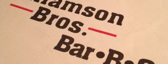 Williamson Bros Bar-B-Q is one of The 4sqLoveStory.