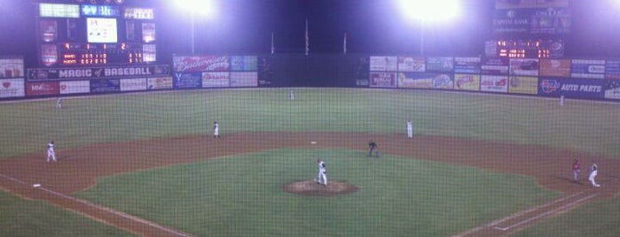Five County Stadium is one of MiLB Southern League.