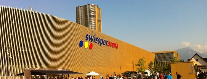 Swisspor Arena is one of Fussballstadien Schweiz.
