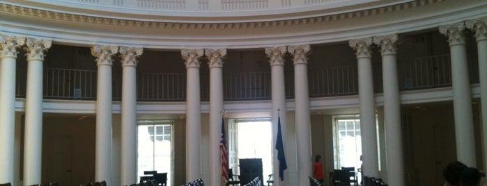 The Rotunda is one of Unusual UVA Study Venues.