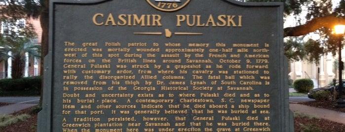 Pulaski Monument is one of Savannah.