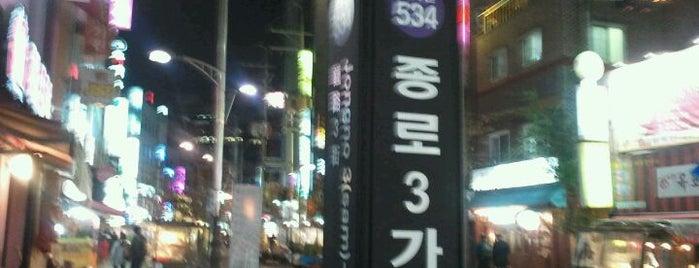 종로3가역 (Jongno 3-ga Stn.) is one of Subway Stations in Seoul(line1~4 & DX).