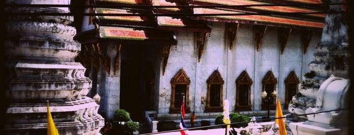 วัดระฆังโฆสิตารามฯ (Wat Rakang) is one of Bangkok (กรุงเทพมหานคร).