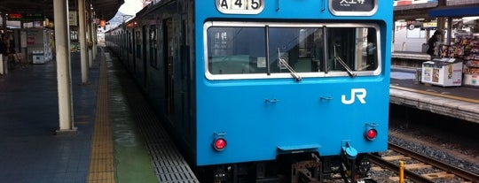 Wakayama Station is one of 阪和線.