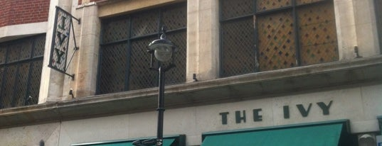 The Ivy Restaurant is one of London's West End.