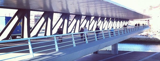 Puente Euskalduna is one of let's get Bilbao's badge (Spain) #4sqCities.